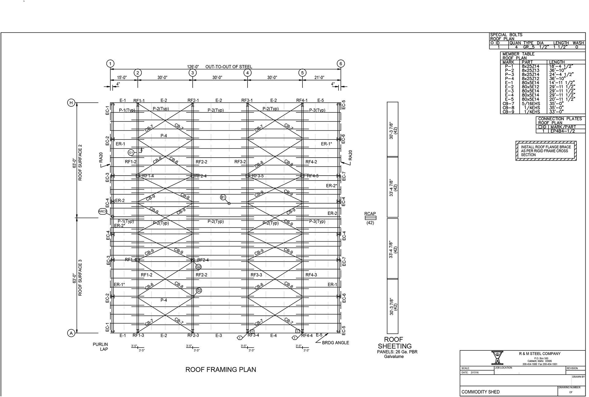 \\steel2017a\Drawings\DRAWINGS\2016\02\FA126126\14-Roof.FC7